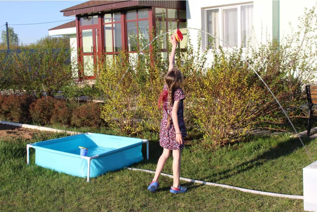 Детский бассейн intex + фонтан